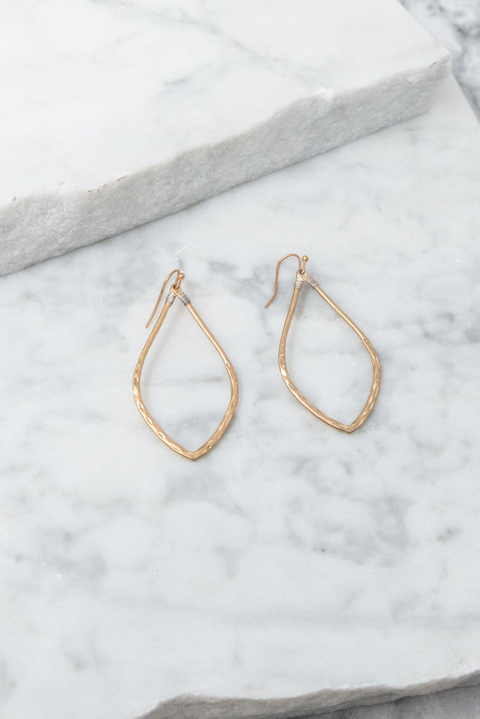 Found Your Love Earrings, Worn Gold