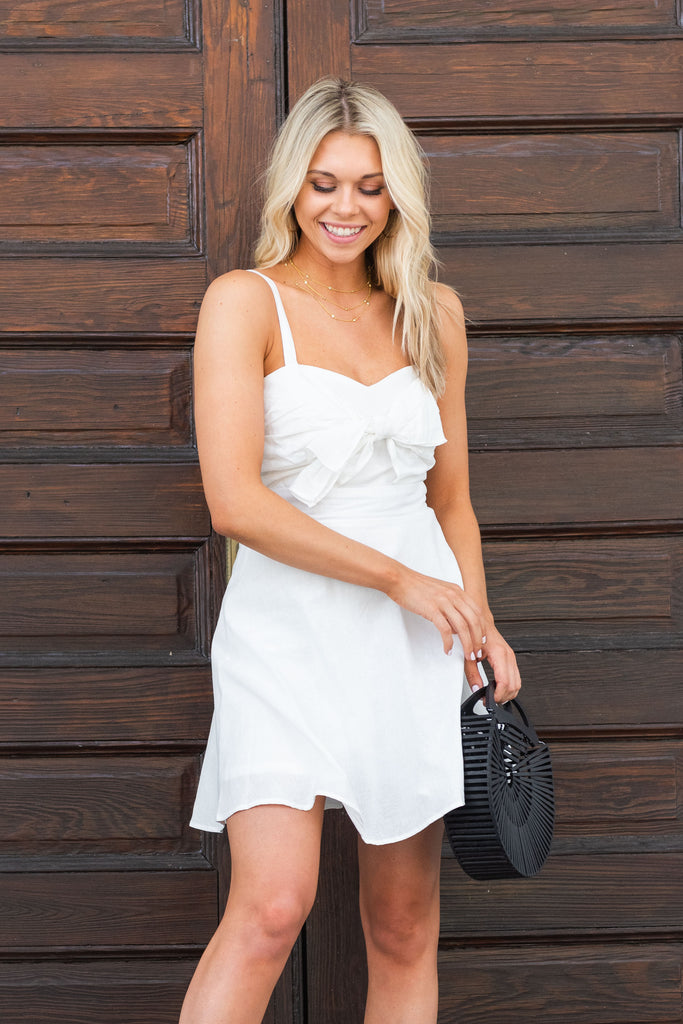 Lunch Date Dress, White