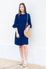 Dreaming Of The Day Navy Blue Peplum Dress