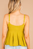 light fabric, lime, tank, tank straps, tied front, flowy
