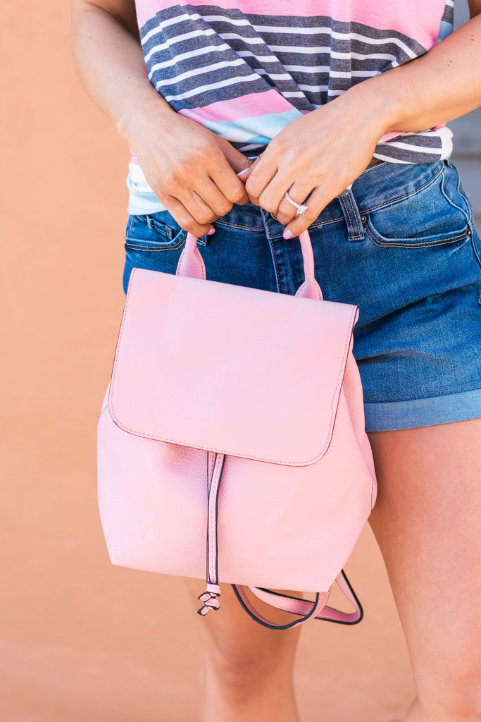 Travel In Style Backpack, Blush