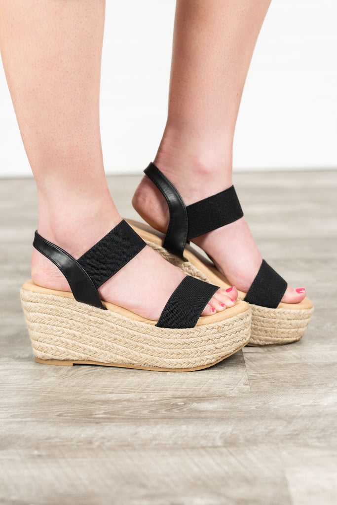 Leading The Way Wedges, Black