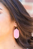 Bright And Beautiful Earrings, Hot Pink