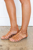 Eyes Are Open Tan Brown Gladiator Sandals