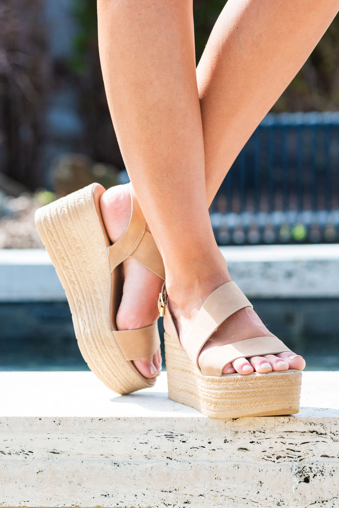 Big News Natural Brown Platform Wedges