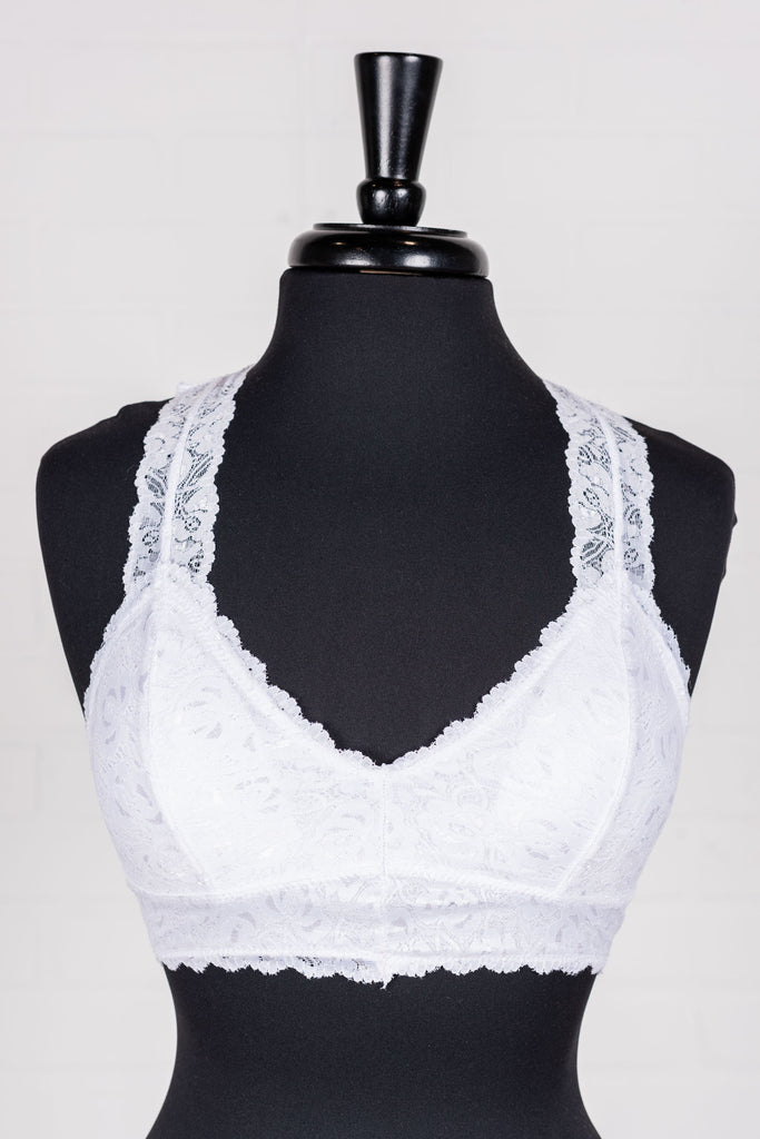 All Of Your Love Bralette, White