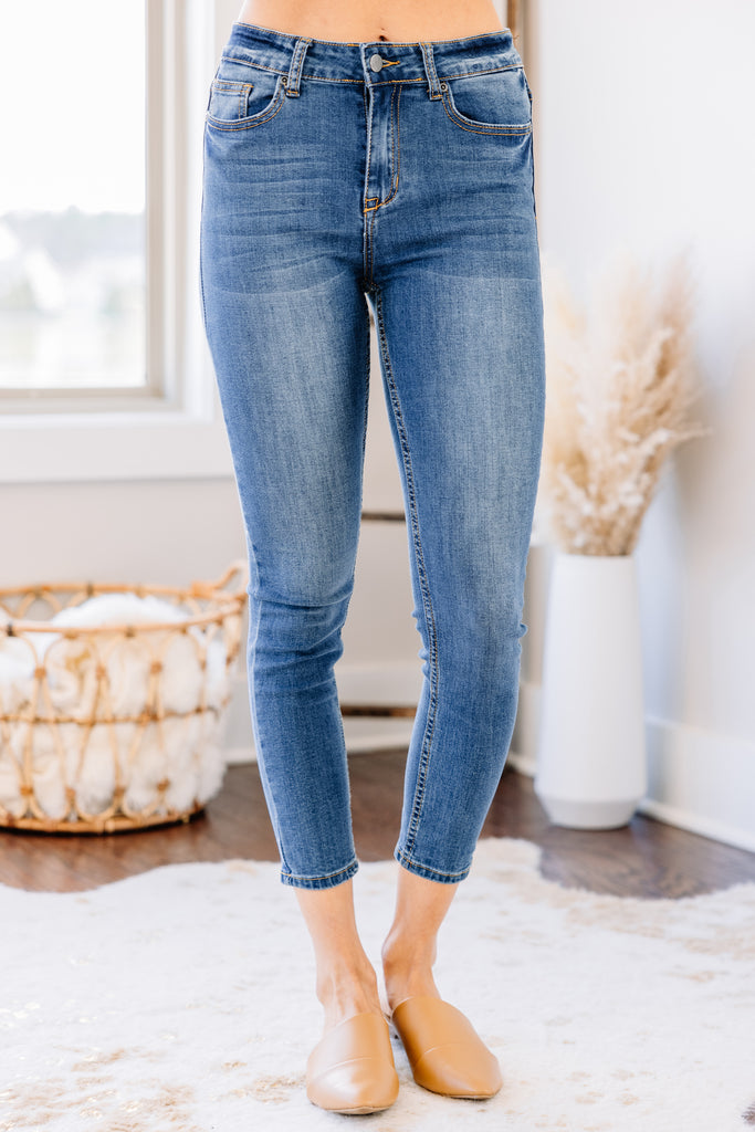 Let In The Love Dark Wash Skinny Jeans