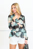 Taste Of The Tropics Blouse, Black-Multi