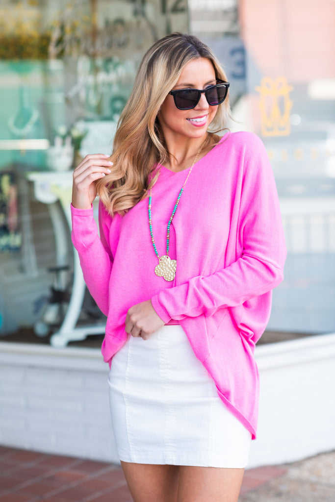 All The Feels Sweater, Pink