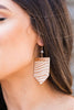 Can't Hide It Earrings,Tan-Ivory
