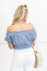 Warm Summer Nights Crop Top, Blue