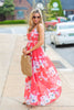 Private Beach Party Maxi Dress, Coral