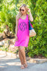 This is Real Cover Up Dress, Fuchsia