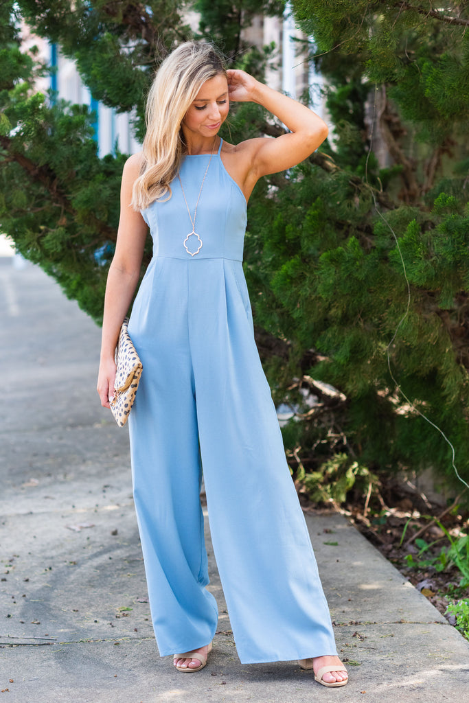 Day And Night Jumpsuit, Dusty Blue