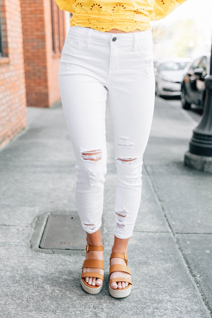 All About Tonight Skinny Jeans, White
