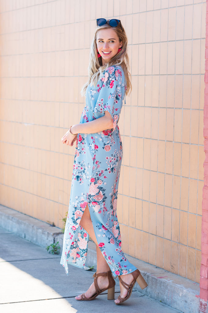 Become Who You Are Maxi Dress, Blue