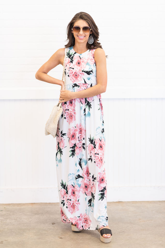 Everything Is Lovely Maxi Dress, Ivory