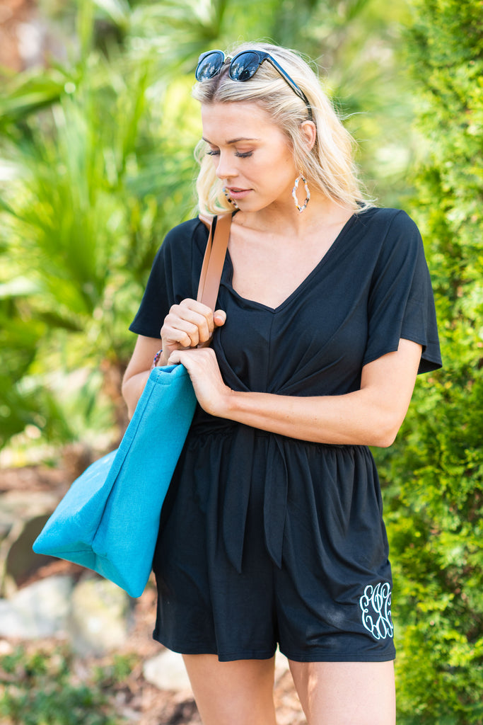 Always So Sweet Romper, Black