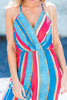 Just Getting Started Jumpsuit, Coral-Multi