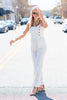 Across The Bay Jumpsuit, White-Black