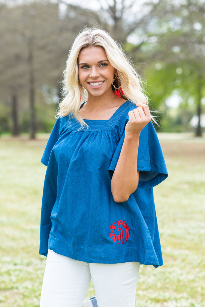 Always Choose Me Top, Denim Blue