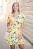 Head Up In The Clouds Dress, Yellow-Multi