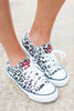 leopard print, sneakers, lace up, comfy