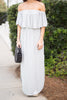 Beauty In Barbados Maxi Dress, Heather Gray