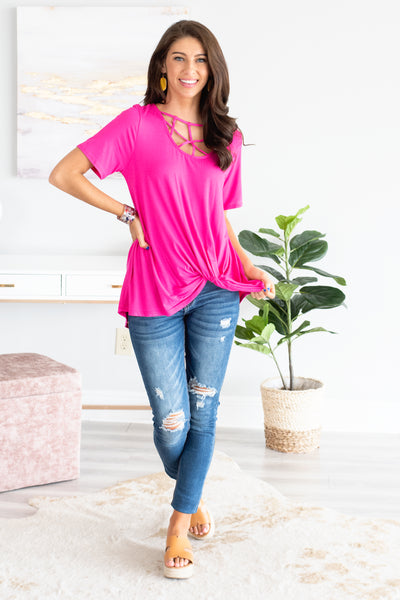 a133cfe1 Searching For Your Love Top, Fuchsia