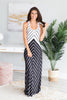 Get The Look Maxi Dress, Black-White