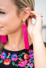 Knotted News Earrings, Pink