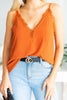 Lovely In Love Brick Orange Tank