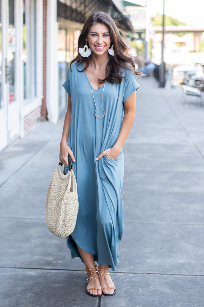 This is No Dream Maxi Dress, Slate