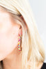 Best of The Best Gold-Multi Beaded Hoop Earrings