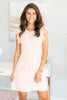 Count On Me Dress, Peach-Ivory