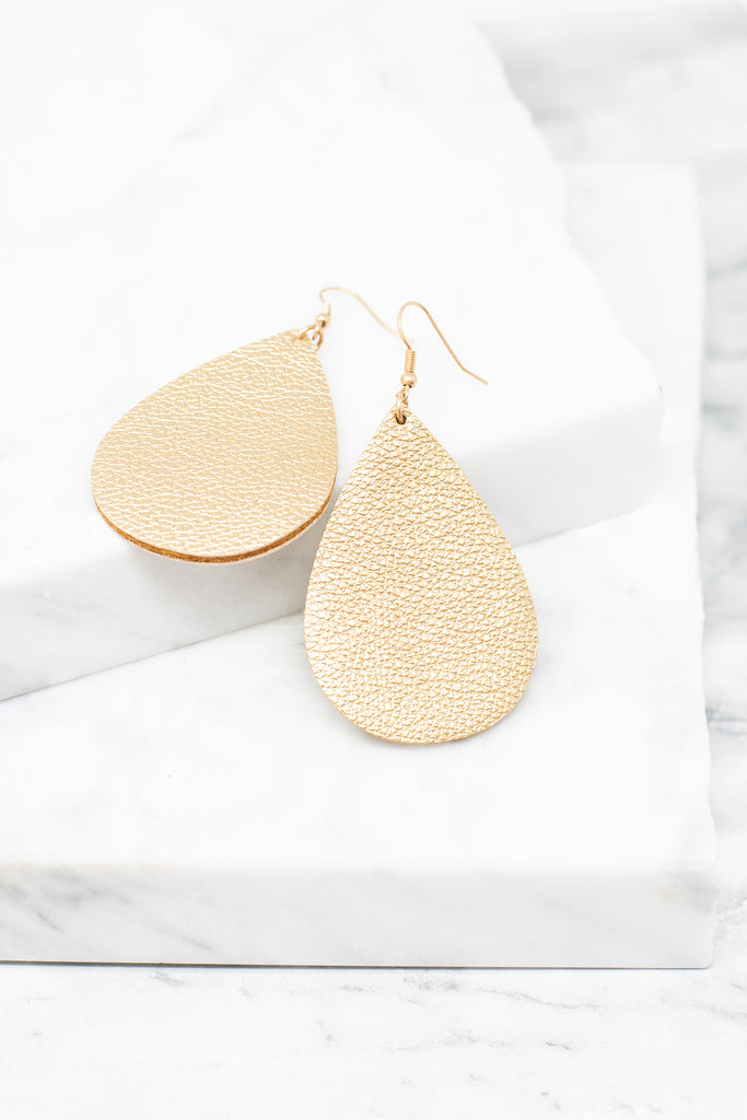 Born To Love Earrings, Gold