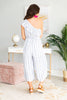 Give You The World Crop Jumpsuit, Blue