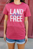 Land Of The Free Heather Red Graphic Tee