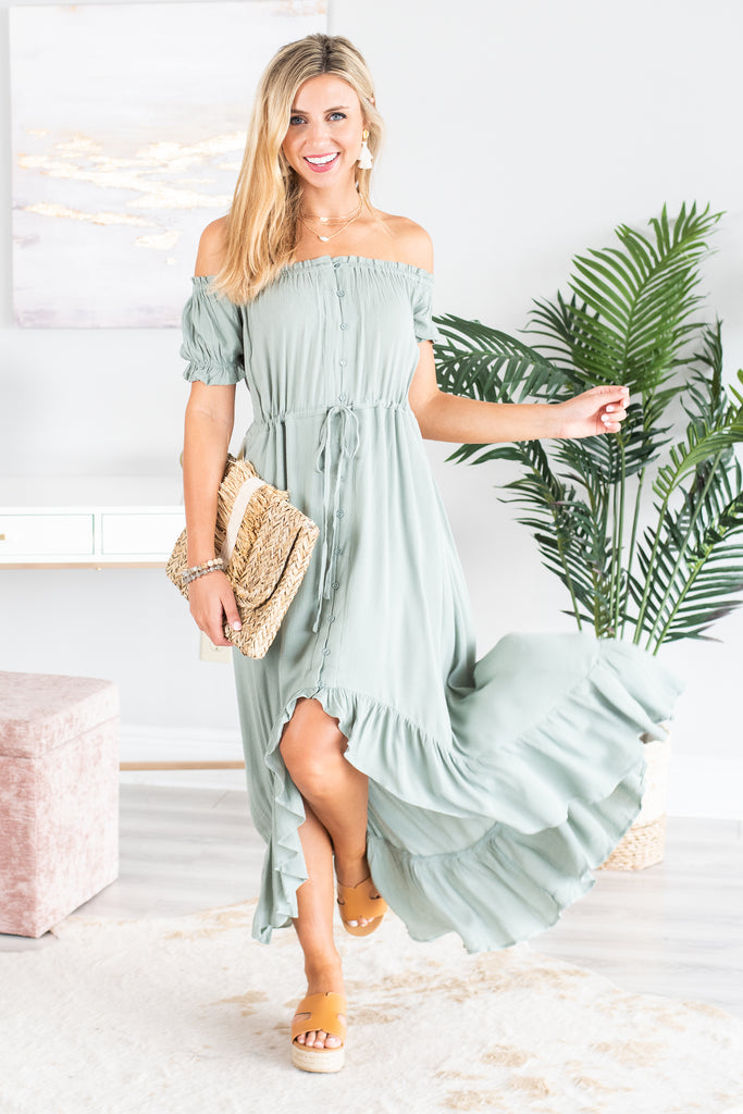 What You Know Maxi Dress, Sea Green