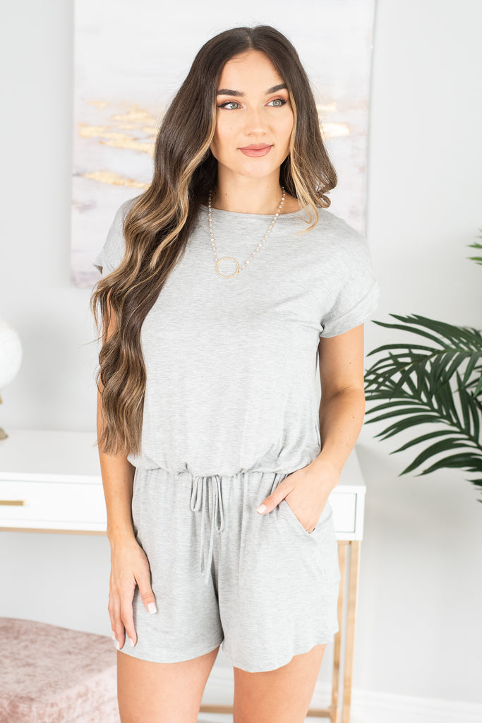 Do Anything For You Gray Romper