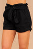Take My Breath Away Black Paperbag Shorts