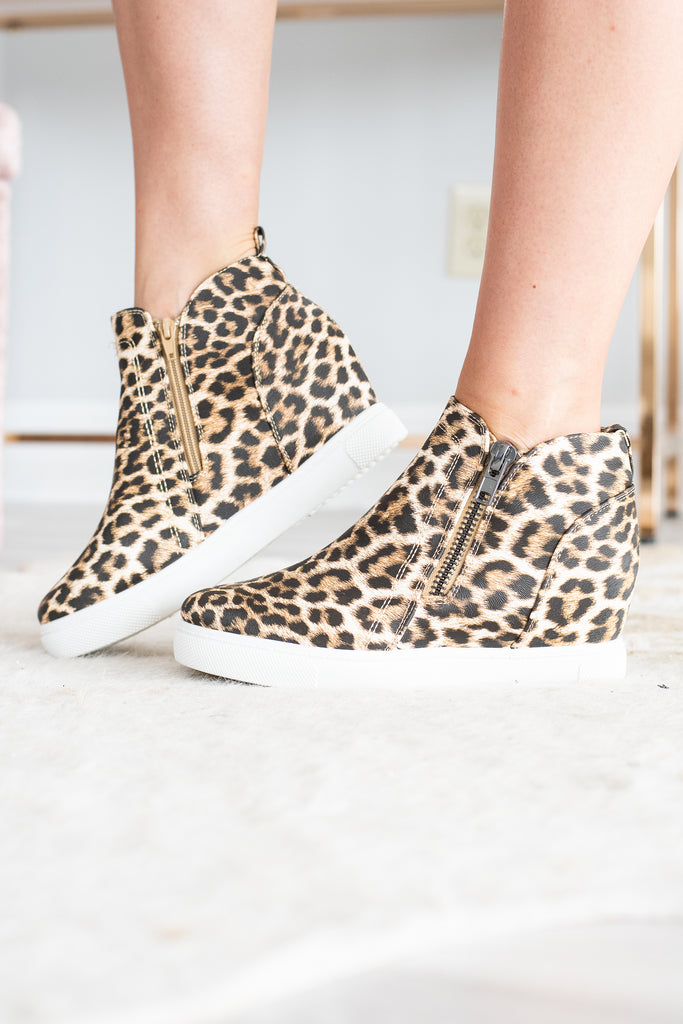 821dd3b0248a Printed Wedge Sneakers, Leopard – The Mint Julep Boutique