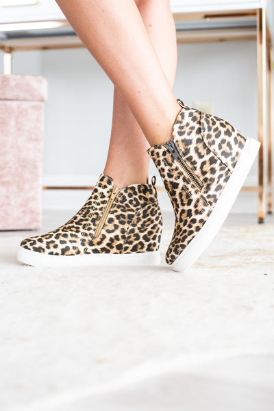 af2471564919 Catch Me If You Can Wedge Sneakers, Leopard