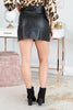 skirt, black skirt, bottoms, fall skirt, black bottoms, vegan leather, leather skirt, leather, black leather skirt