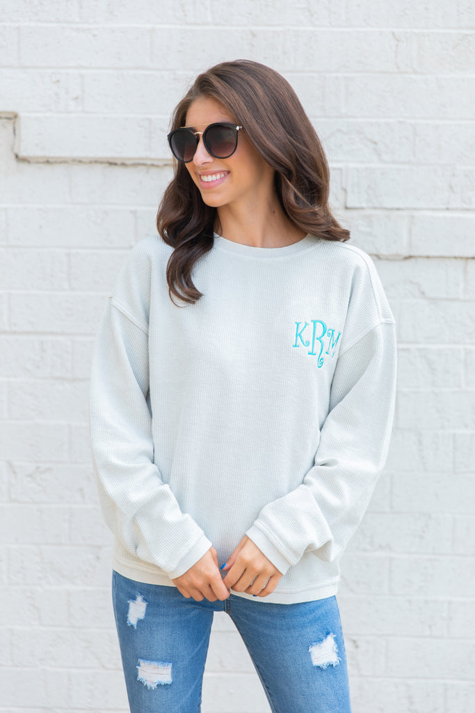 sweatshirt, textured, textured sweatshirt, casual, casual sweatshirt, fall, fall sweatshirt, monogram, monogram sweatshirt, custom sweatshirt, long sleeve, long sleeve top, long sleeve sweatshirt, round neck, true to size, brown top, brown sweatshirt, brown long sleeve monogrammed sweatshirt, brown sweatshirt, brown long sleeve, brown long sleeve monogrammed sweatshirt