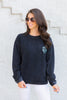 sweatshirt, textured, textured sweatshirt, casual, casual sweatshirt, fall, fall sweatshirt, monogram, monogram sweatshirt, custom sweatshirt, long sleeve, long sleeve top, long sleeve sweatshirt, round neck, true to size, black top, black sweatshirt, black long sleeve monogrammed sweatshirt, black sweatshirt, black long sleeve, black long sleeve monogrammed sweatshirt