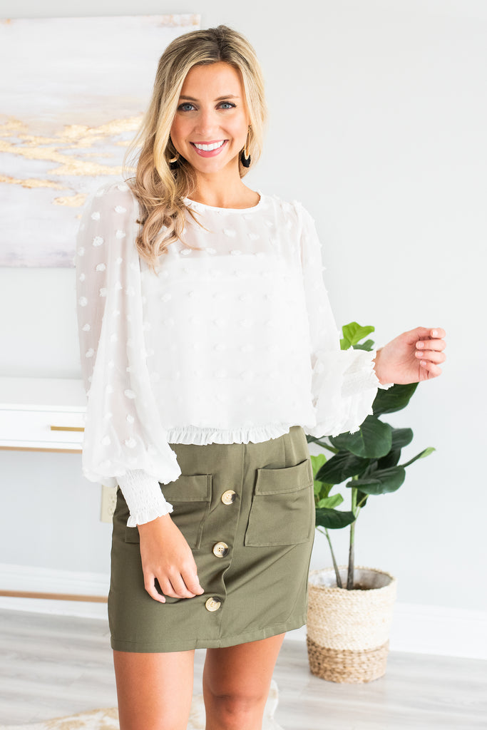 The Perfect Impression Top, White