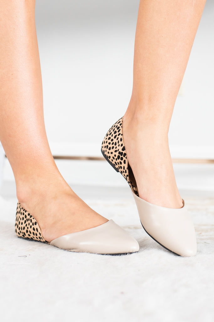 Super Chic Leopard Print Light Taupe Flats – The Mint Julep Boutique