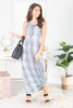 dress, maxi dress, snakeskin, snakeskinmaxi dress, animal print, animal printed maxi dress, gray, white, gray and white maxi dress, summer, summer maxi dress, fall, fall maxi dress, everyday, shopping, wide strap