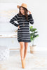 sweater, dress, sweater dress, black sweater dress, long sleeve dress, long sleeve sweater dress, black sweater dress, round neck, long sleeve